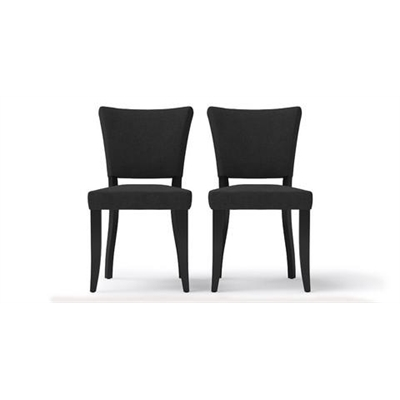 Sofia Set of 2 Dining Chairs Black Solid Beech Night Black by Brosa, a Dining Chairs for sale on Style Sourcebook
