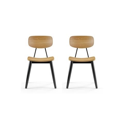 Aldgate Set of 2 Dining Chairs Natural Ash