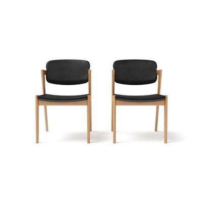 Ingrid 2x Modern Danish Dining Chair Warm Ash