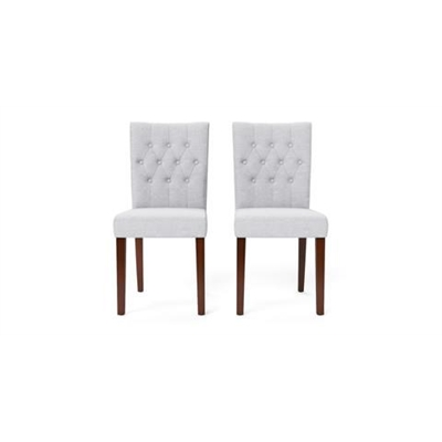 Espen Set of 2 Dining Chairs Dark Brown Solid Beech Cloud Grey by Brosa, a Dining Chairs for sale on Style Sourcebook