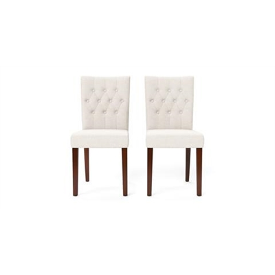 Espen Set of 2 Dining Chairs Dark Brown Solid Beech Classic Cream by Brosa, a Dining Chairs for sale on Style Sourcebook