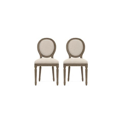 Louis Set of 2 Dining Chairs French Beige by Brosa, a Dining Chairs for sale on Style Sourcebook