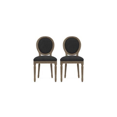 Louis Set of 2 Dining Chairs Night Black