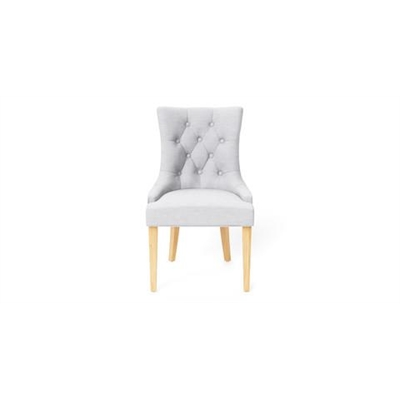 Espen Scoop Back Dining Chair Natural Solid Beech Cloud Grey by Brosa, a Dining Chairs for sale on Style Sourcebook