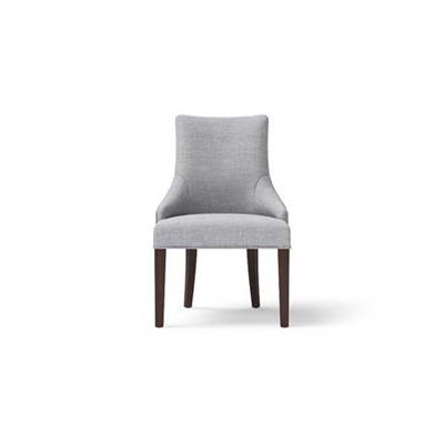Zoe Scoop Back Dining Chair Dark Brown Solid Beech Cloud Grey by Brosa, a Dining Chairs for sale on Style Sourcebook