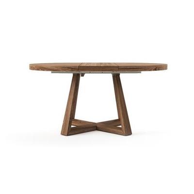 Parc Extendable Dining Table 120/160cm Brown Oak