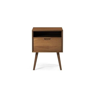 Ethan Square Side Table Chocolate Brown Solid Beech Wood by Brosa, a Side Table for sale on Style Sourcebook