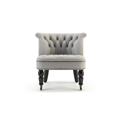 Helene Accent Chair Black Solid Beech Stone Grey by Brosa, a Chairs for sale on Style Sourcebook