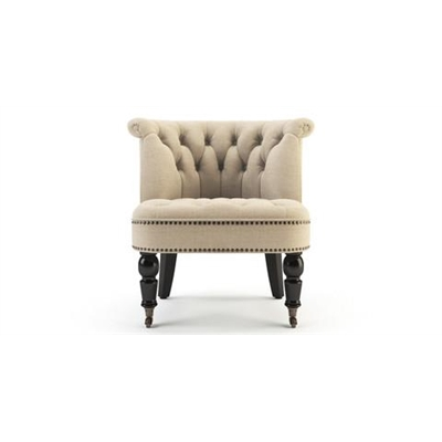 Helene Accent Chair Black Solid Beech French Beige
