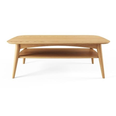 Mia Coffee Table with Shelf Scandi Oak