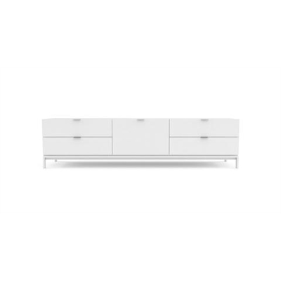 Josie Large Entertainment Unit Glossy White
