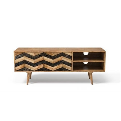 Potter Entertainment Unit Natural Mango Wood