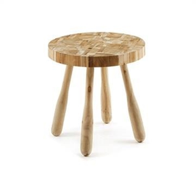 Brixton Recycled Teak Timber Round Side Table