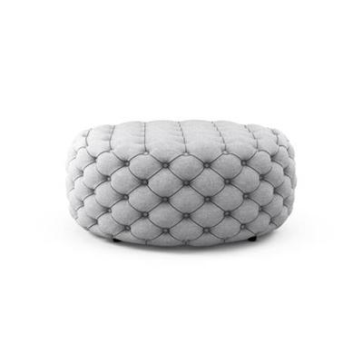 Marken Large Round Ottoman Cloud Grey