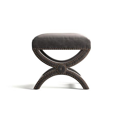 Portobello Foot Stool Cosmic Anthracite