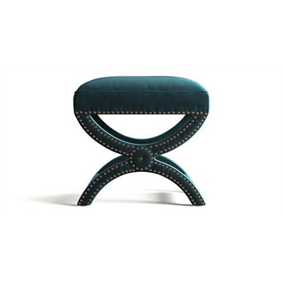 Portobello Foot Stool Peacock Teal by Brosa, a Stools for sale on Style Sourcebook