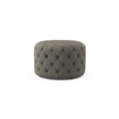 Marken Small Round Ottoman Stone Grey
