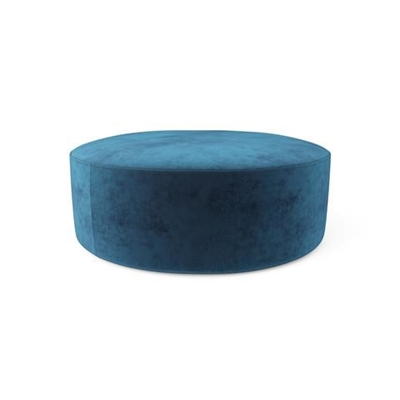 Alexa Large Round Ottoman Ocean Blue by Brosa, a Ottomans for sale on Style Sourcebook