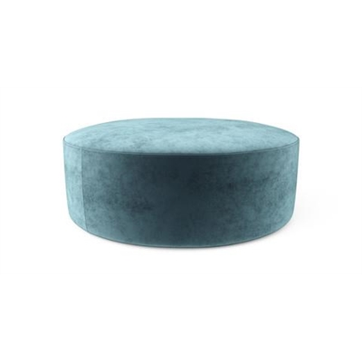 Alexa Large Round Ottoman Peacock Teal by Brosa, a Ottomans for sale on Style Sourcebook