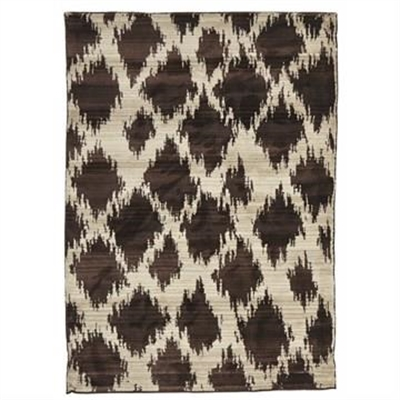 Egyptian Made Moroccan Cross Lines Design Rug in Chocolate - 290x200cm