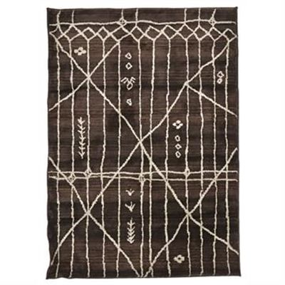 Egyptian Made Moroccan Tribal Design Rug in Chocolate - 290x200cm by Rug Culture, a Contemporary Rugs for sale on Style Sourcebook