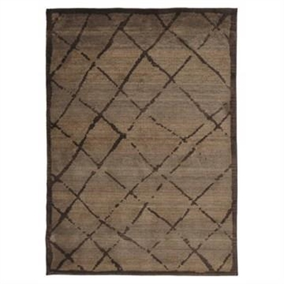 Egyptian Made Moroccan Rustic Design Rug in Chocolate - 290x200cm