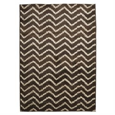 Egyptian Made Moroccan Chevron Design Rug in Brown/Beige - 290x200cm