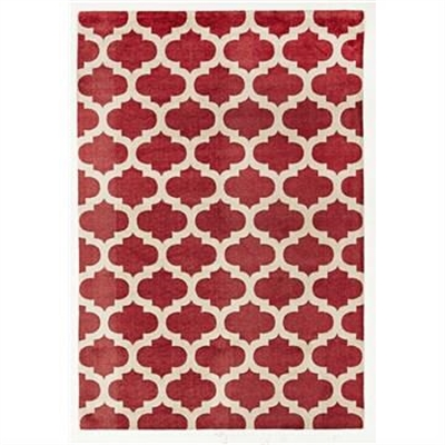 City Trellis Modern Rug, 280x190cm, Red