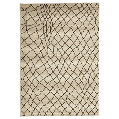 Egyptian Made Moroccan Web Design Rug in Cream - 290x200cm by Rug Culture, a Contemporary Rugs for sale on Style Sourcebook