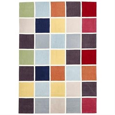 Narris Colourful Tile Hand Tufted Rug - 165x115cm