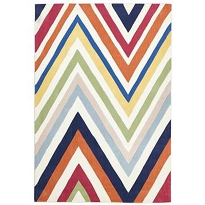 Narris Chevron Hand Tufted Rug in Rainbow - 165x115cm