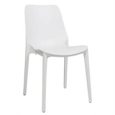 Ginevra Italian Made Commercial Grade Indoor/Outdoor Side Chair, White
