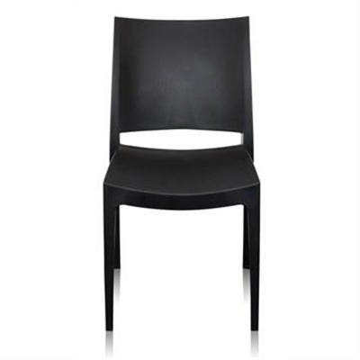 Velasco Commercial Grade Outdoor Dining Chair, Black