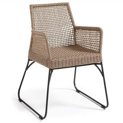 Burnett Indoor/Outdoor Dining Armchairs, Tan by El Diseno, a Dining Chairs for sale on Style Sourcebook