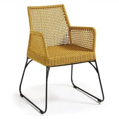 Burnett Indoor/Outdoor Dining Armchairs, Yellow