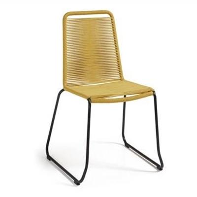 Balliol Stackable Indoor / Outdoor Dining Chair, Yellow