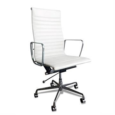 Executive Eames Replica Leather Office Chair - White Premium by Conception Living, a Chairs for sale on Style Sourcebook