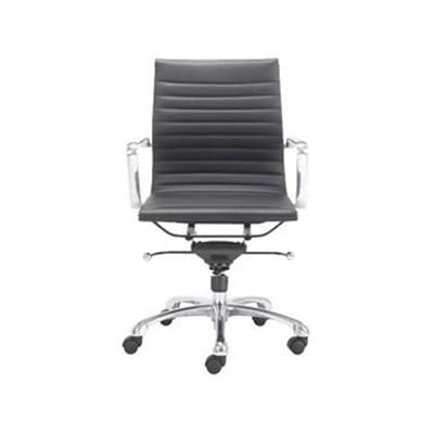 Replica Eames Italian Leather Office Chair, High Back, Black by Conception Living, a Chairs for sale on Style Sourcebook