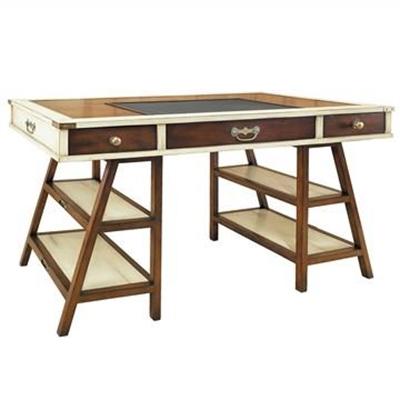 Navigators Basswood Trestle Desk, Ivory