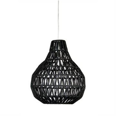 Cooper Woven String Pendant Light Shade Only, 30cm, Black