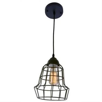 Berwick Wire Cage Pendant in Grey