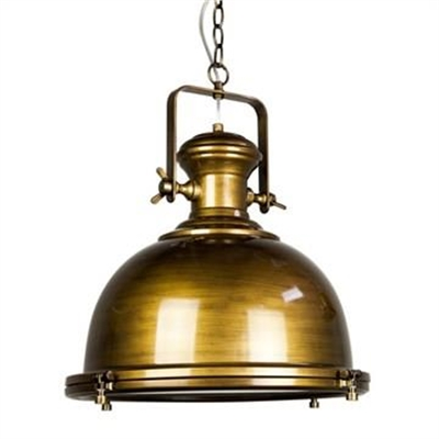 Gaia Industrial Pendant Light - Antique Brass