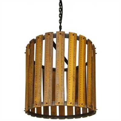 Ackerley Recycled Wooden Ruler Pendant Light - Small
