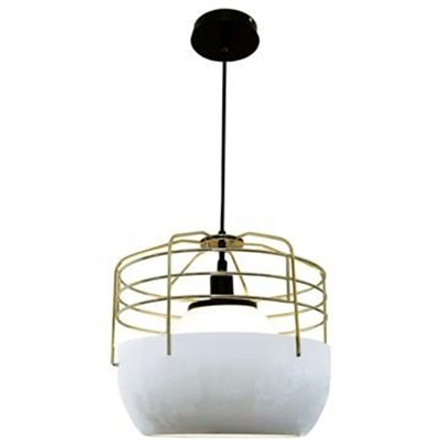 Delano Metal Wire and Glass Cage Pendant Light