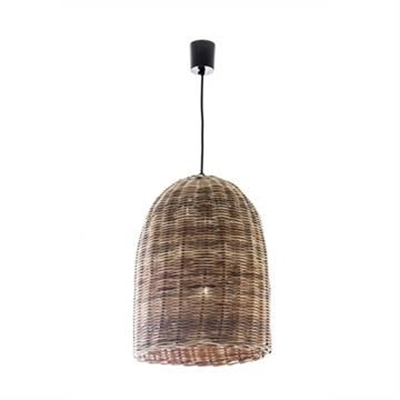 Haven Rattan Bell Pendant Light - Small