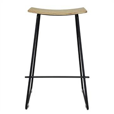 Nordberg Commercial Grade Steel Bar Stool, Natural / Black
