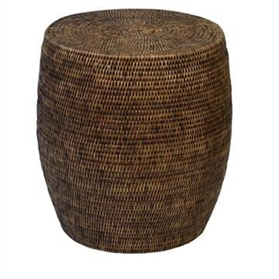 Savannah Rattan Drum Side Table, Tobacco by COJO Home, a Stools for sale on Style Sourcebook