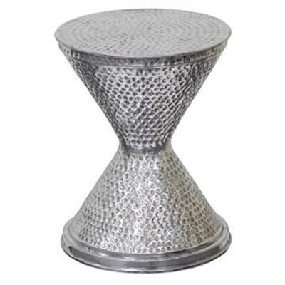 Alaric Aluminium Hourglass Stool / Side Table