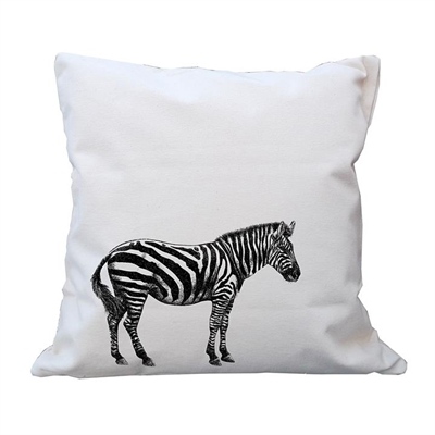 Zebra Cushion Cover by Vinyl Design, a Kids Cushions for sale on Style Sourcebook