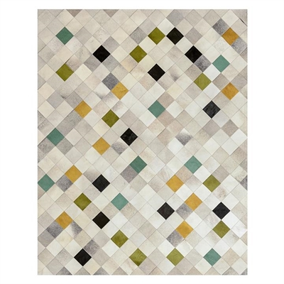Falling Squares Hide Rug, Verde by Art Hide, a Hide Rugs for sale on Style Sourcebook